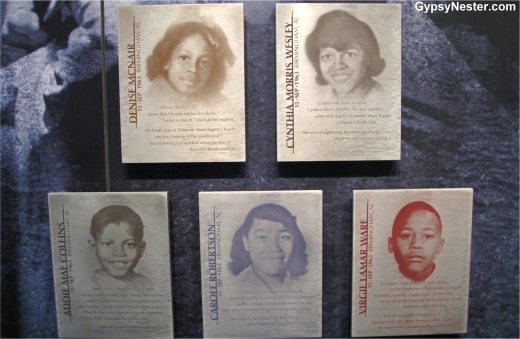 Tributes to victims at the Civil Right Memorial Center, Montgomery, Alabama