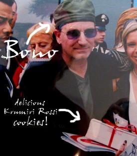 Bono with Krumiri Rossi!
