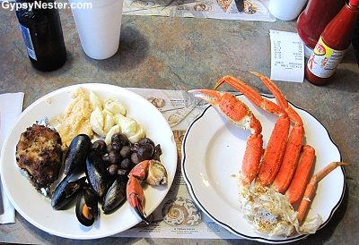 Getting crabby Pelican Point Restaurant in Townsend, Georgia