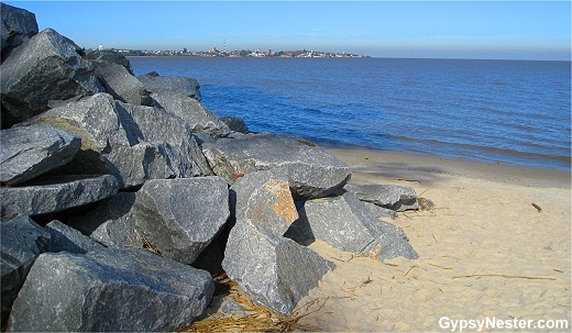 Beautiful beach in Colonia Uruguay
