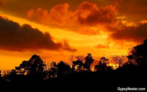 A beautiful Costa Rica sunset