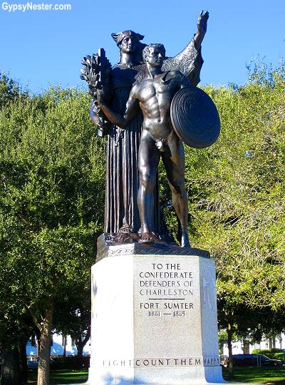 The Confederate Monument at Fort Sumter in Charleston, North Carolina