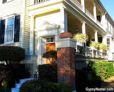 Hospitality Door on a Charleston Single in South Carolina