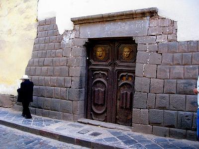 Building atop ancient foundation in Cusco Peru