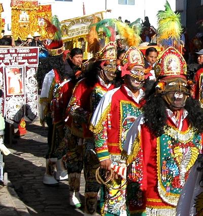 Corpus Cristi Procession in Cusco Peru