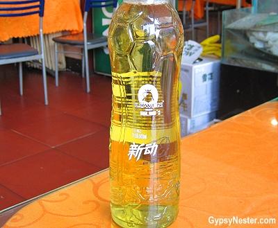 Lowen Beer, Dalian, China - goes great with silkworm