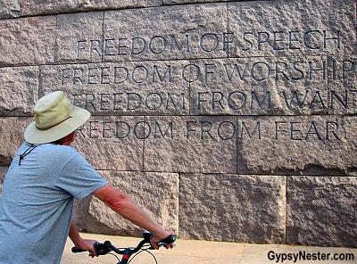 The FDR Memorial in Washington DC