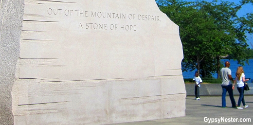 Out of a mountain of despair, a stone of hope: The Martin Luther King Memorial in Washington DC