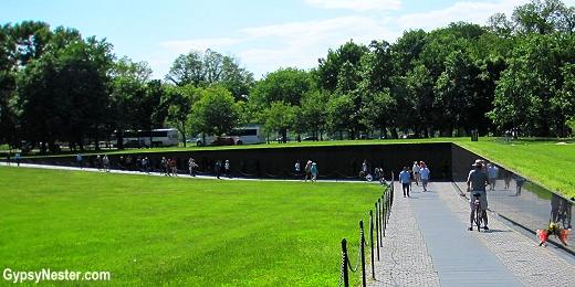 The Vietnam Veterans Memorial in Washington DC
