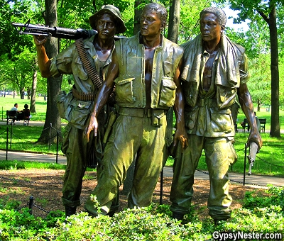The Three Servicemen statue at The Vietnam Veterans Memorial in Washington DC