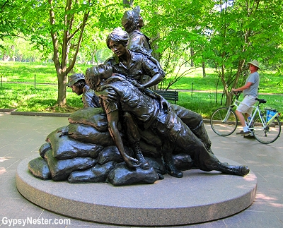 Vietnam Women's Memorial at The Vietnam Veterans Memorial in Washington DC