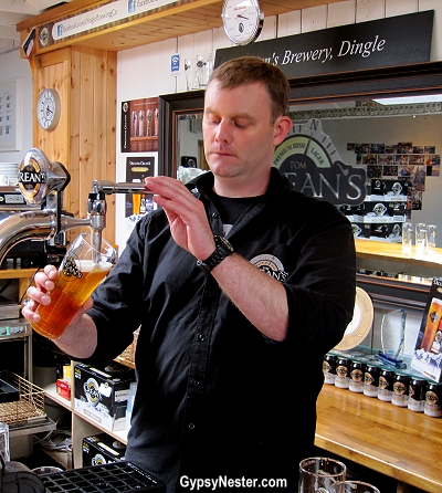 Crean's beer at Dingle Brewing Company in Dingle Ireland