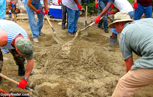 Laying concrete floors in Dominican homes with Fathom Travel and IDDI