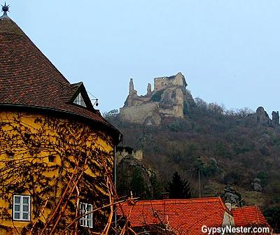 Kuenringer Castle in Durnstein, Austria in the Wachau Valley