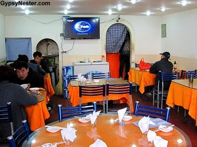Restaurant serving silk worms in Dalian China