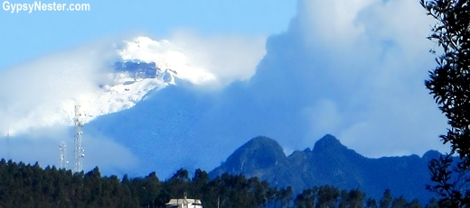 Snow covered volcano - Pichincha
