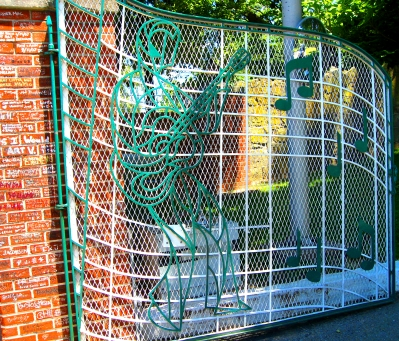 The gates to Graceland in Memphis, Tennessee