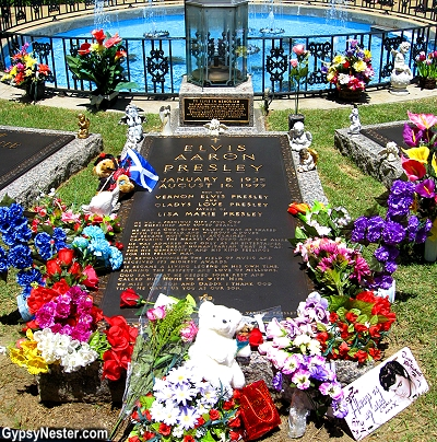 The Grave of Elvis Presley at Graceland, Memphis Tennessee