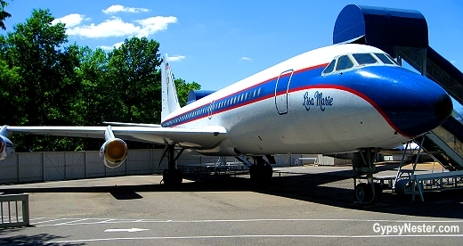 Elvis's plane, the Lisa Marie, at Graceland in Memphis, Tennessee