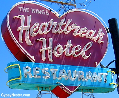 The Heartbreak Hotel Restaurant at Elvis' Graceland in Memphis, Tennessee