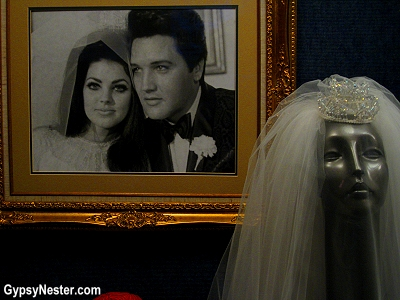 The wedding of Elvis and Pricilla Presley