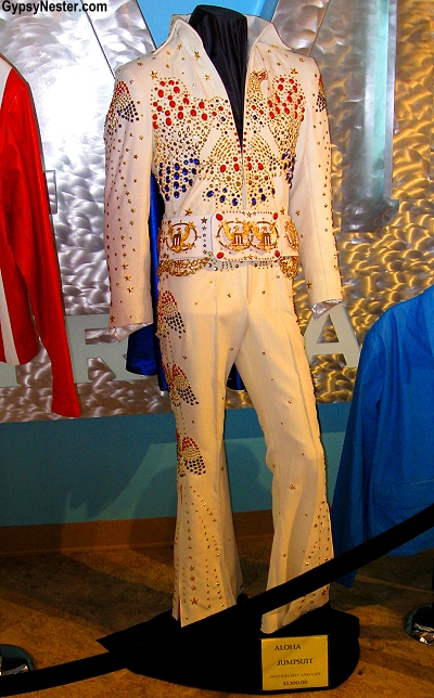 $3000 dollar replica jumpsuit at Elvis' Graceland in Memphis, Tennessee