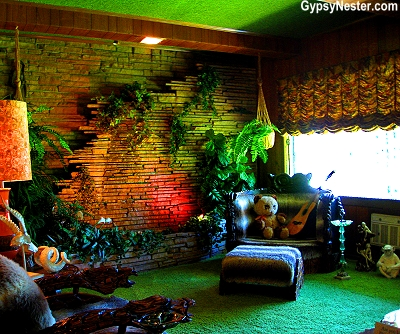 The Jungle room in Elvis's Graceland, Memphis, Tennessee