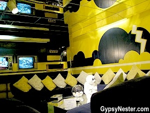 The TV room in Graceland in Memphis, Tennessee