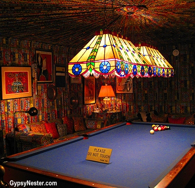The Billard room in Elvis's Graceland, Memphis, Tennessee