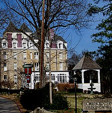 The haunted Crescent Hotel in Eureka Springs, Arkansas