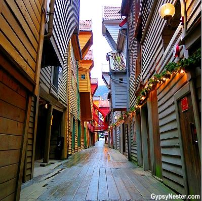 Bergen Norway's UNESCO world heritage site, Bryggen