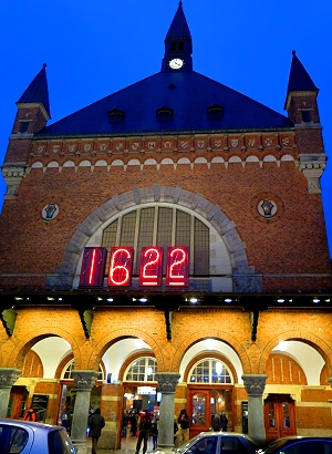 The Copenhagen train station