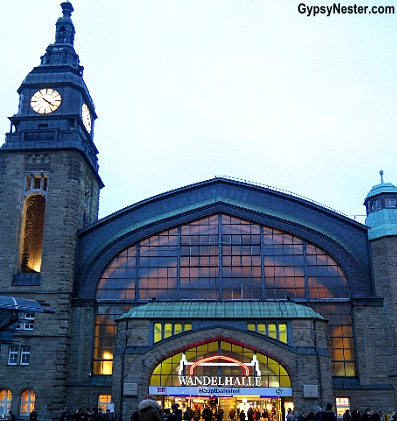 The train station in Hamburg, Germany