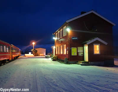 The train station in Lonsdal, Norway
