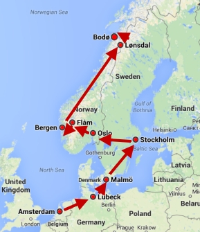 Our trip from Amsterdam through Scandinavia to the top of the world! GypsyNester.com