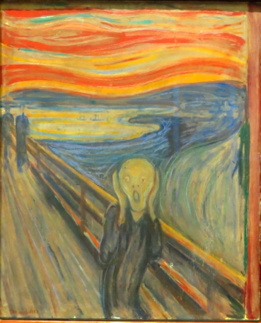 Edvard Munch's Scream in the Nasjonalgalliet in Oslo, Norway