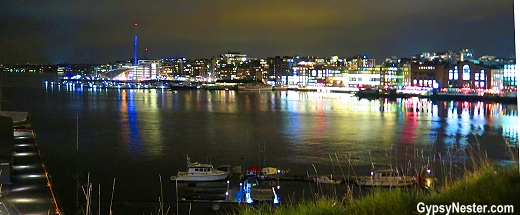 The view form Festning Resurart in Oslo, Norway