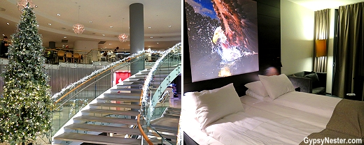 All dressed up for the holidays! The sleek and trendy Scandic Ørnen - our home for the night!