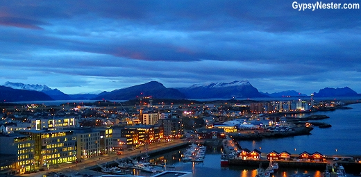 The view from our room at Scandic Havet in Bodo, Norway