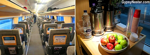 First class train in Sweden