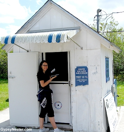 Veronica explores the world's smallest post office in the Florida Everglades