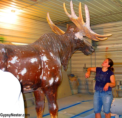 A giant fiberglass moose at FAST in Sparta, Wisconsin