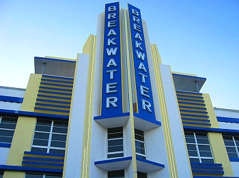 Art Deco Breakwater Hotel, South Beach Florida