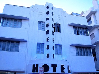Art Deco Congress Hotel, South Beach Florida