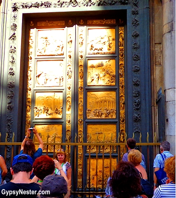 The gates of paridise at the Baptistery in Florence, Italy