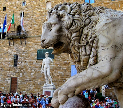 The Medici Lions in Florence, Italy