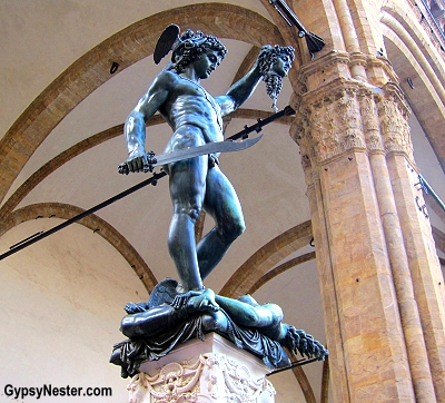 Benvenuto Cellini's Perseus with the Head of Medusa in Florence, Italy