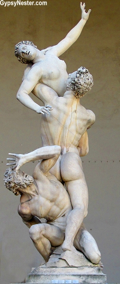 The Rape of the Sabine Women by Giambologna in Florence, Italy