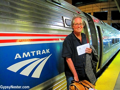 David the Train Nut climbs aboard Amtrak's number 67 Northeast Regional