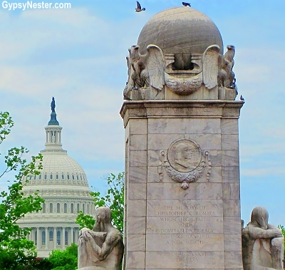 The Capitol Building is visible as soon as you step out of Union Station in Washington DC